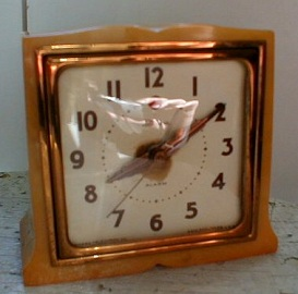 Antique Art Deco Clock, Catalin Imp
