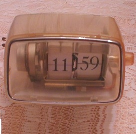 Art Deco Clock, Digital Plexi Glass