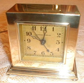 Antique Art Deco Clock, Brass