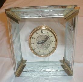 Art Deco Clock, Glass & Mirror