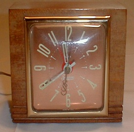 Art Deco Clock, Sessions Wood Clock
