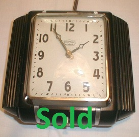 Antique Art Deco Clock, Ingraham Kitchen Wall Clock