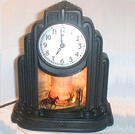 Art Deco Clock, Cowboy Motion