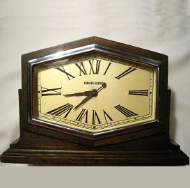 Antique Art Deco Clock, Manning Bowman Mantel Clock