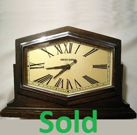 Antique Art Deco Clock, Manning Bowman Mantel Clock