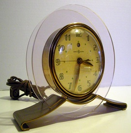 Antique Art Deco Clock, GE Rapture