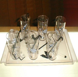 Deco glass/tray set