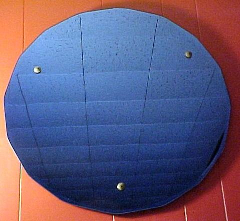 Antique Blue Art Deco Wall Mirror