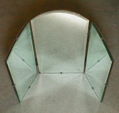 Antique Triple Dresser          Mirror