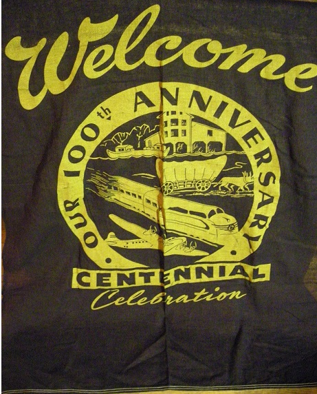 Antique Centennial Banner