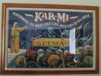 Antique Magic Poster, Karmi Selma Stone Litho
