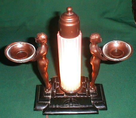 Art Deco Lamp, double nude