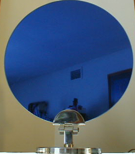Blue Round Display