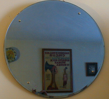 Blue Round Wall