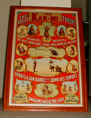 Vintage Magic Poster, Karmi Troupe Stone Litho