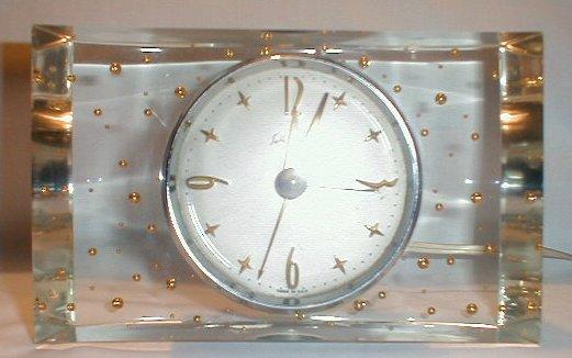 Lucite        Clock