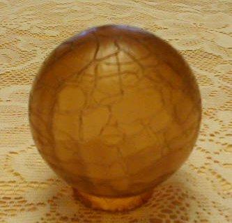 Amber Crackle Globe