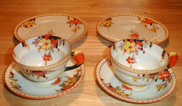 Vintage deco tea set
