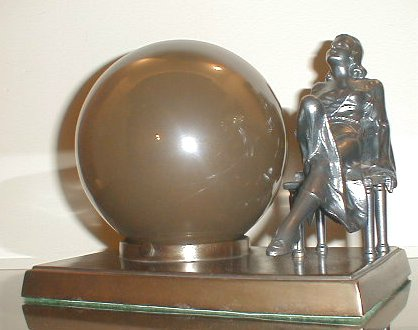 Art Deco Lamp with Mercury Globe