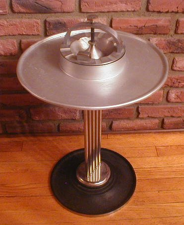 Vintage Art Deco Machine Age Standing Ashtray