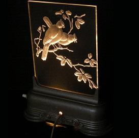 Antique Art Deco Bird Luminaire