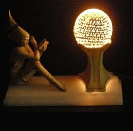 Antique Gerdago Pixie lamp