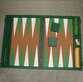 Antique Catalin Backgammon Set