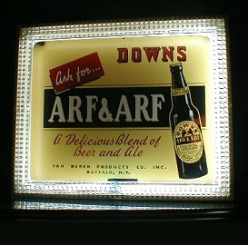 Neon Arf & Arf Beer Advertisement
