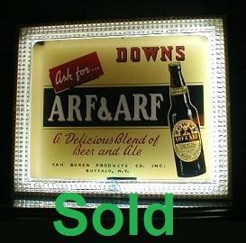 Antique Neon Arf & Arf Beer Advertisement