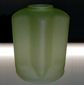 Antique Art Deco Green Glass Lamp Shade