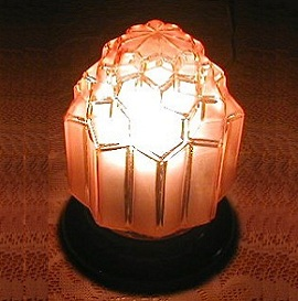 Antique Art Deco Amber Glass Lamp Shade