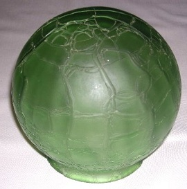Antique Art Deco Glass Lamp Globe