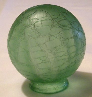 green Crackle Globe