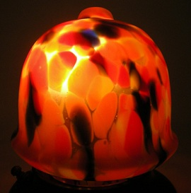 Antique Art Deco Glass Czechoslovakian Lamp Shade
