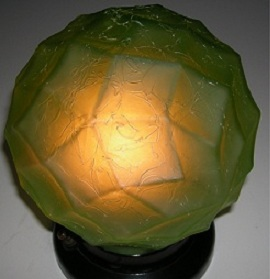 Antique Art Deco Glass Lamp Shade
